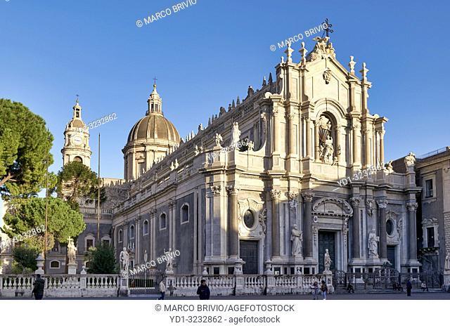 Metropolitan Cathedral of Saint Agatha Duomo Catania Sicily Italy