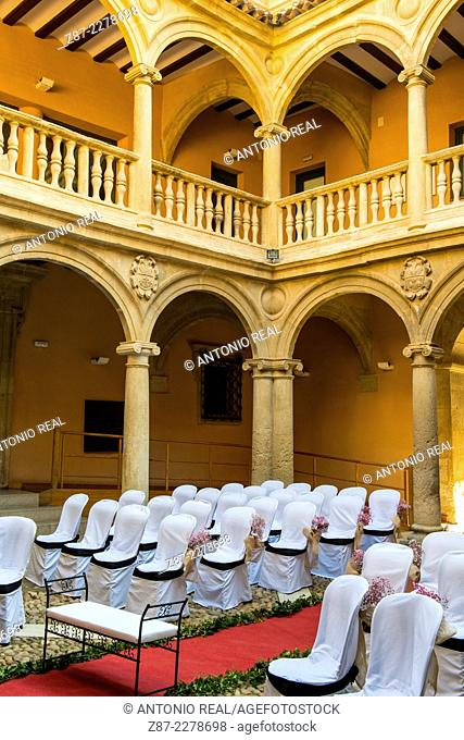 Wedding reception at the Palace of the Condes de Cirat, Almansa, Albacete province, Castilla-La Mancha, Spain