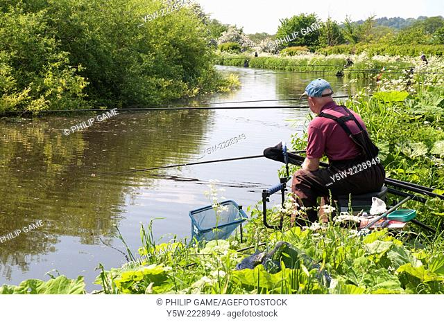Anglers on the Staffordshire and Worcestershire Canal in the Black Country, England
