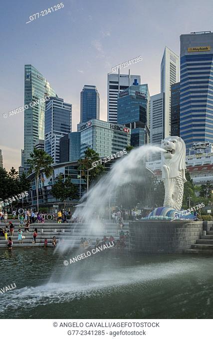 The Merlion Monument, Singapore