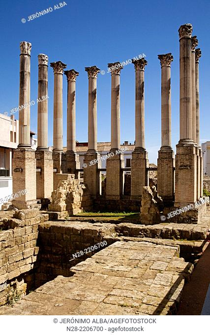 Roman Temple, Cordoba, Andalusia, Spain