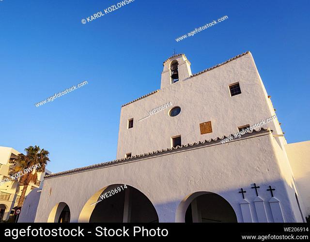 Church in Sant Josep de sa Talaia, Ibiza, Balearic Islands, Spain