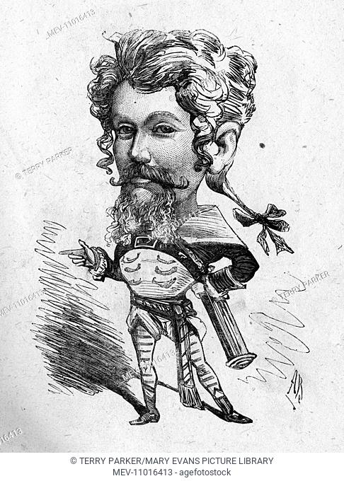 Caricature of Gilbert Hastings MacDermott (1845-1901), English music hall singer and lion comique. Do you know I could summons you for that?