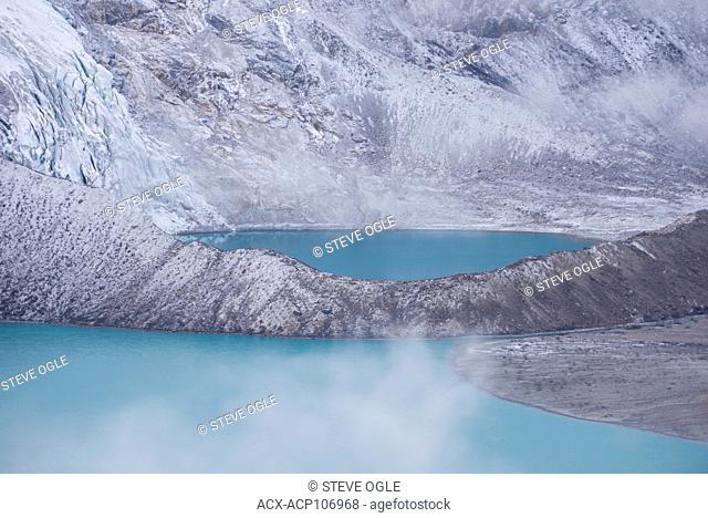 A tarn below the Robson Glacier, Mount Robson Provincial Park, British Columbia