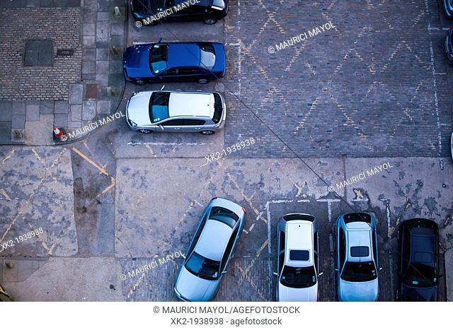 Car park viewed from above