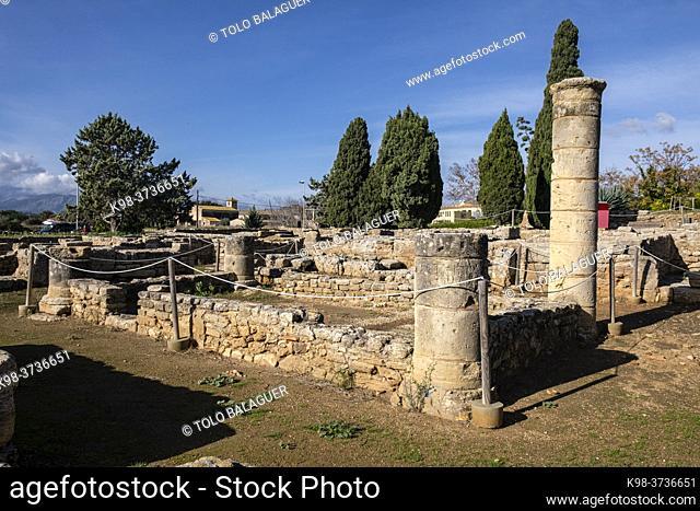 House of the two treasures, Roman city of Pollentia, Alcudia, Mallorca, Balearic Islands, Spain