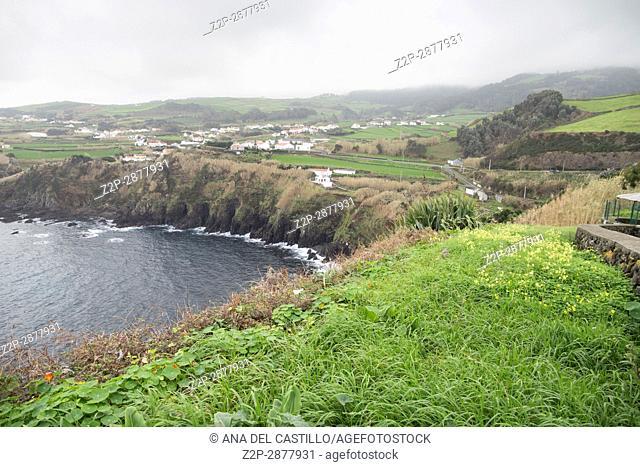 Quatro Ribeiras viewpoint Terceira island Azores Portugal