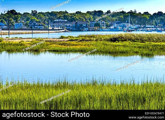 Sailboats Boats Padanaram Village Bridge Harbor Buzzards Bay Dartmouth Massachusetts. .