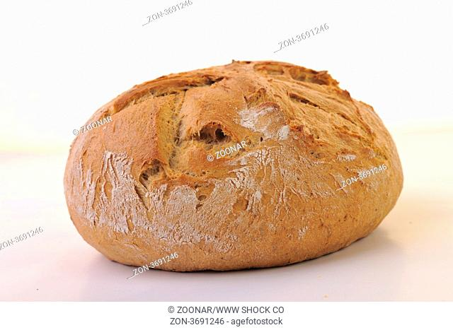 fresh bread food healthy product isolated on white