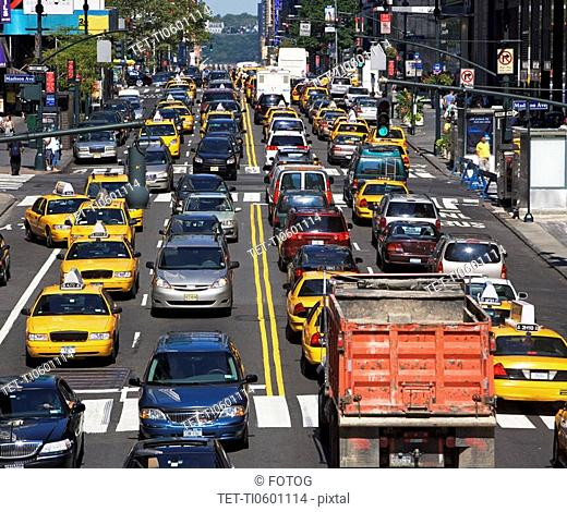 Traffic jam in city