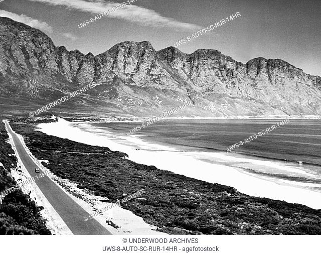 South Africa: c. 1946.Marine Drive on the Western Cape between Gordons Bay and Hermanus