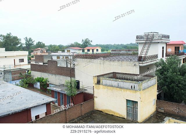 Buildings in Kharian village Pakistan