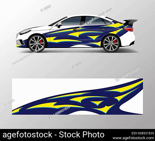 abstract stripe for racing car wrap, sticker, and decal design vector