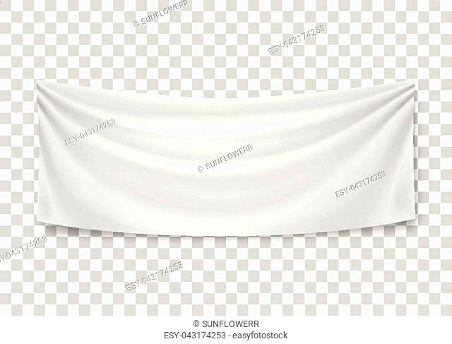 Blank horizontal banner, streamer, mockup, isolated on transparent background. Outdoors information ridgepole for inscriptions, slogans, mottos and so on