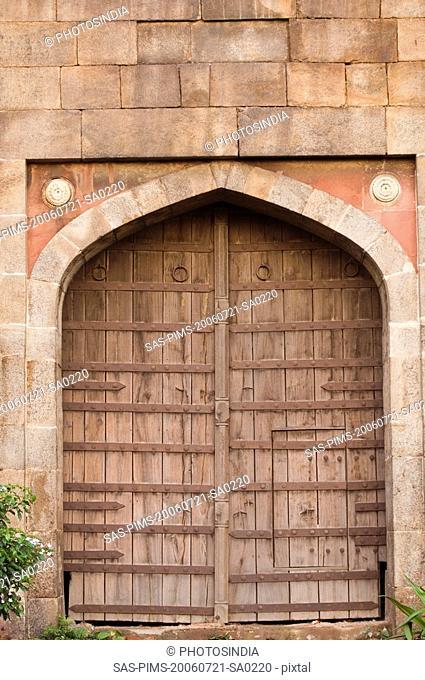 Entrance of a fort, Old Fort, Delhi, India