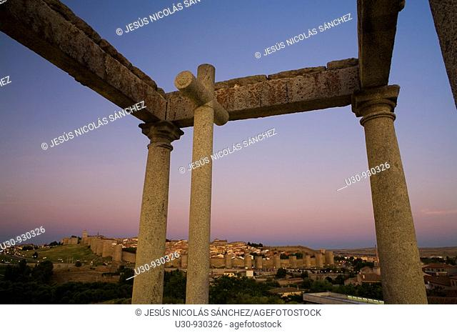 The Four Poles, in the Ávila city, World Heritage in Castilla y León  Spain