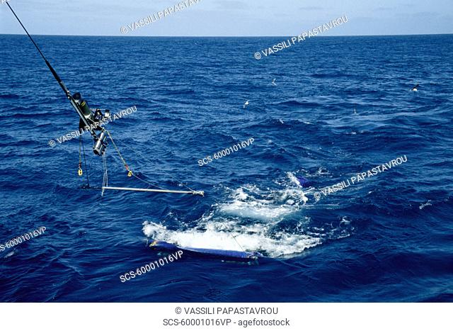 Plankton trawl from British Antarctic Survey RRS Jame Clark Ross Southern Ocean