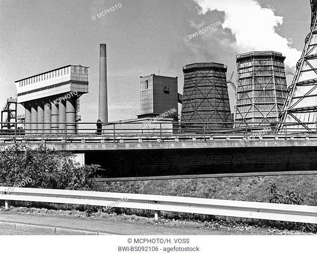 coal mine and coking plant Osterfeld in the year of 1976, Germany, North Rhine-Westphalia, Ruhr Area, Oberhausen