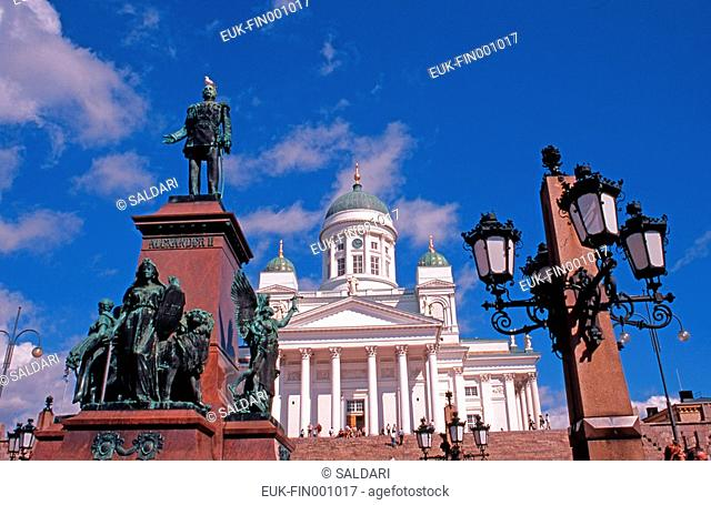 Helsinki, senate square, cathedral, Finland