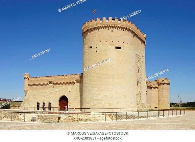 Castle and Silo. Arevalo, Segovia, Spain