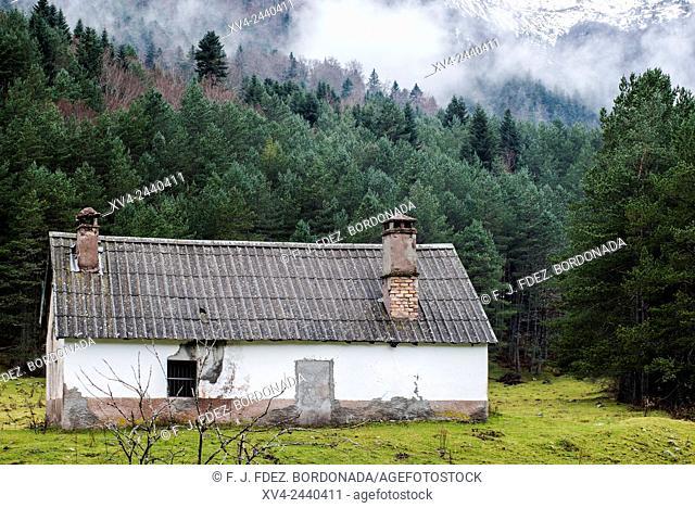 Selba de Oza, Hecho Valley, Huesca Pyrenees, Aragon, Spain
