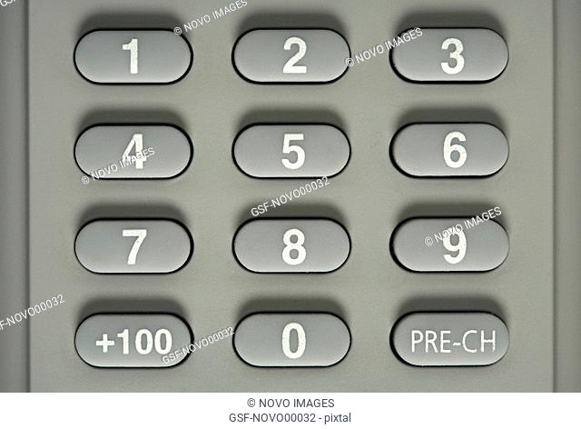 Numbers on Remote Control