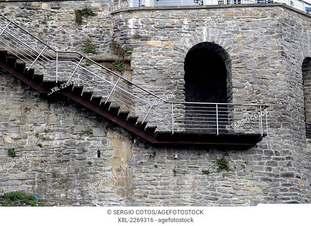 Cantilevered stairs Guetaria, Basque Country, Guipuzcoa, Spain