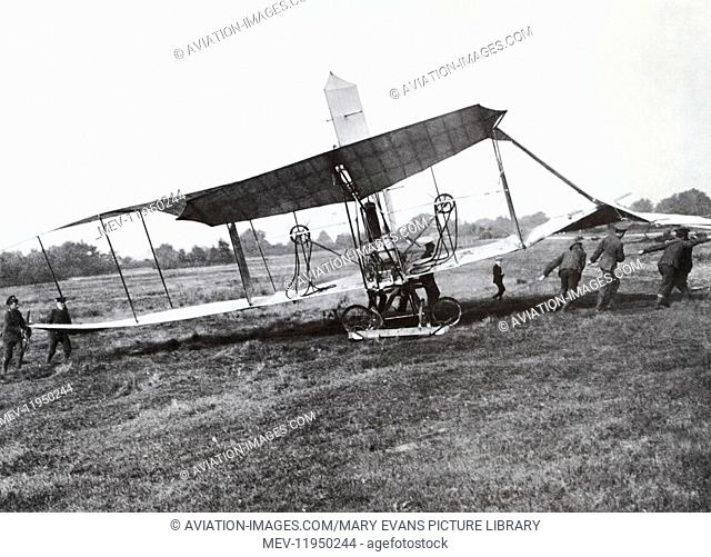 The Wreckage of Colonel Samuel Franklin Cody's British Army Aeroplane No 1 Being Removed from the Landing Site after Making the First-Flight