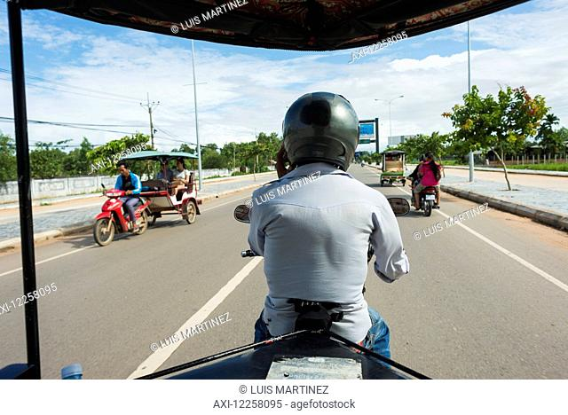 On the way to the famous Angkor area; Siem Reap, Cambodia
