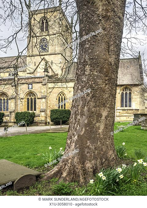 St Johns Parish Church in Spring at Knaresborough North Yorkshire England
