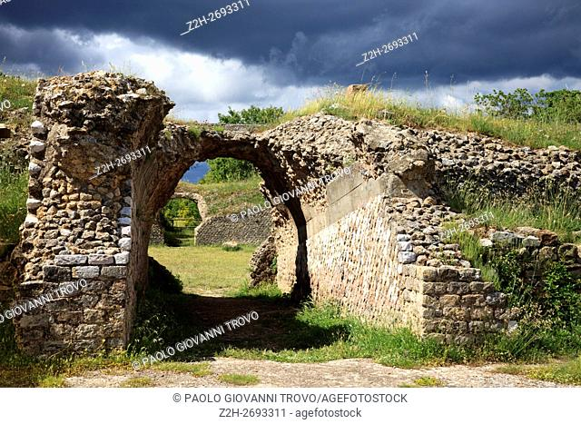 Etruscan ruins, Roselle, Grosseto, Tuscany, Italy, Europe