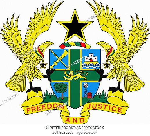 National coat of arms of the Republic of Ghana