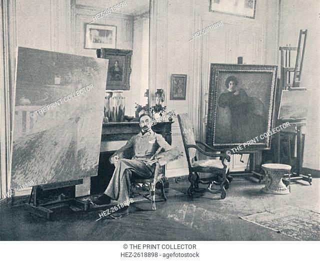 Edmond Francois Aman-Jean (1858-1936). French symbolist painter, 1898