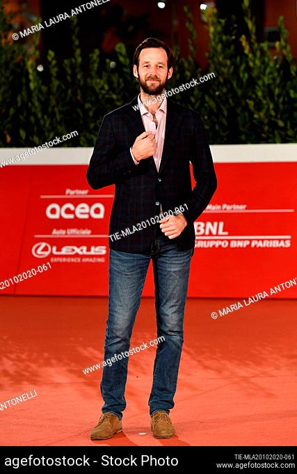 Benjamin Lavernhe arrives for the screening of 'Le Discours' (The Speech) at the 15th annual Rome International Film Festival, Rome, ITALY-19-10-2020