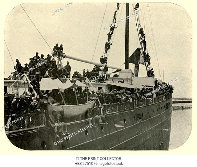 'Rio Grande Backing Out', Spanish-American War, 12 June 1898, (1899). Creator: Burr McIntosh