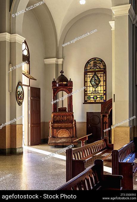 Nuestra Senora de la Caridad del Cobre Basilica, interior, El Cobre, Santiago de Cuba Province, Cuba