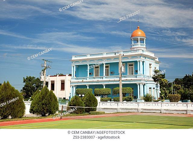 Palacio Azul, Blue Palace at Punta Gorda, Cienfuegos, Cienfuegos Province, Cuba, Central America