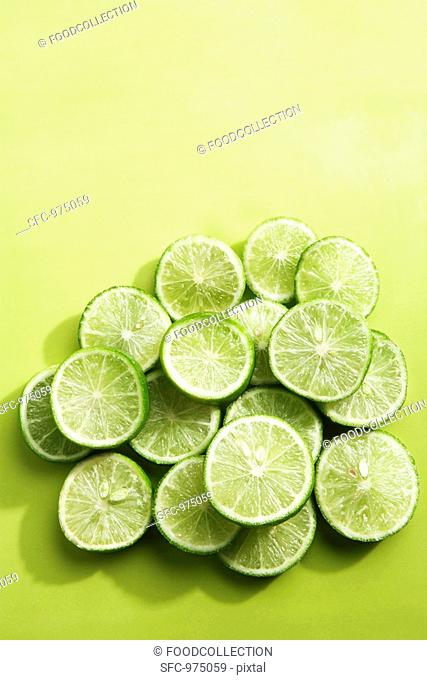 Key Lime Slices on Green