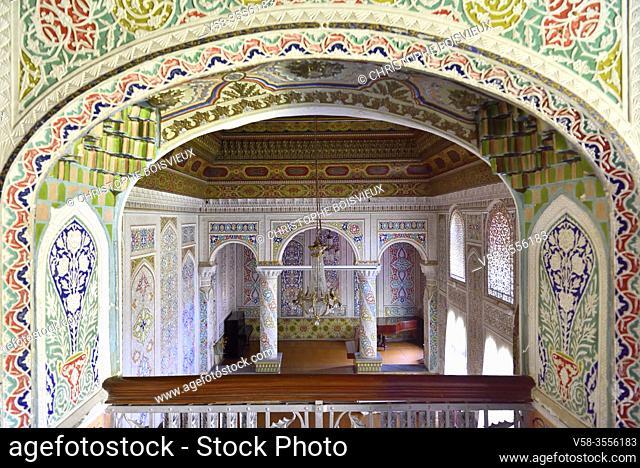 Uzbekistan, Unesco World Heritage Site, Samarkand, Museum of Regional Studies, former palace of Jewish millionnaire Abraham Kolontarov, Audience hall