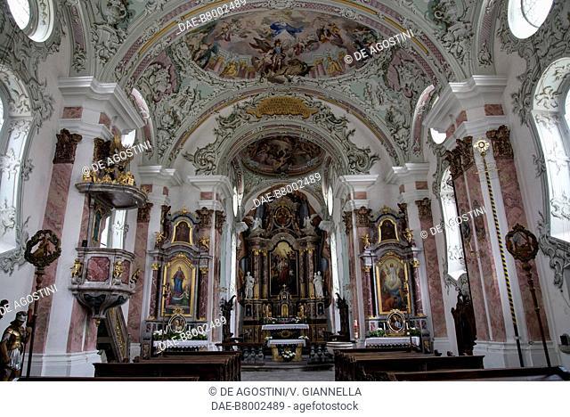 Interior of the church of Saint Michael, San Candido (Innichen), Trentino-Alto Adige, Italy, 13th-18th century