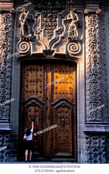 Iturbide palace doors, Mexico City, Mexico