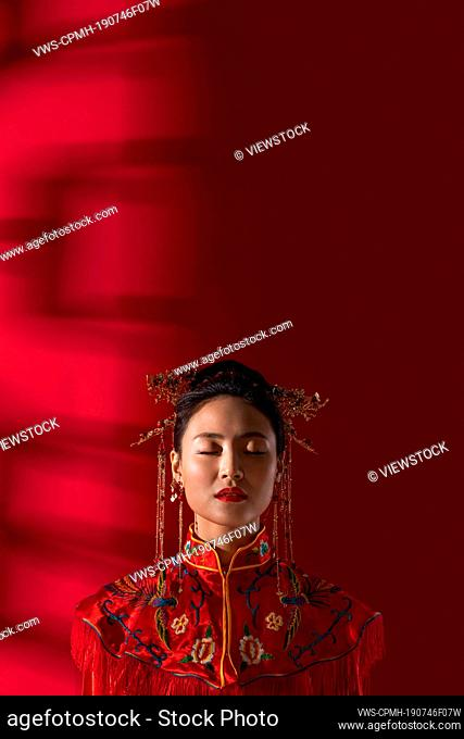 A beautiful Chinese bride