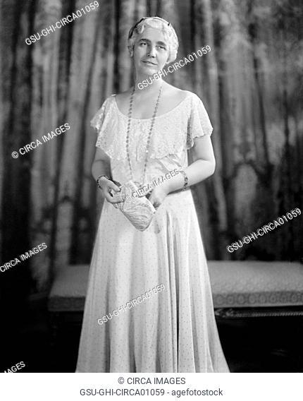 Lou Henry Hoover, wife of U.S. President Herbert Hoover, Portrait, circa 1930