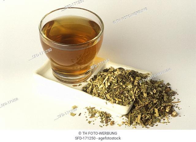 Passionflower tea and dried herb (Passiflora incarnata)