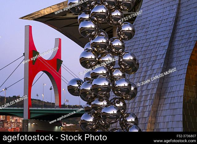 The Guggenheim Museum in Bilbao. City of Bilbao in the Province of Bizkaia in the autonomous community of the Basque Country, Spain, Europe