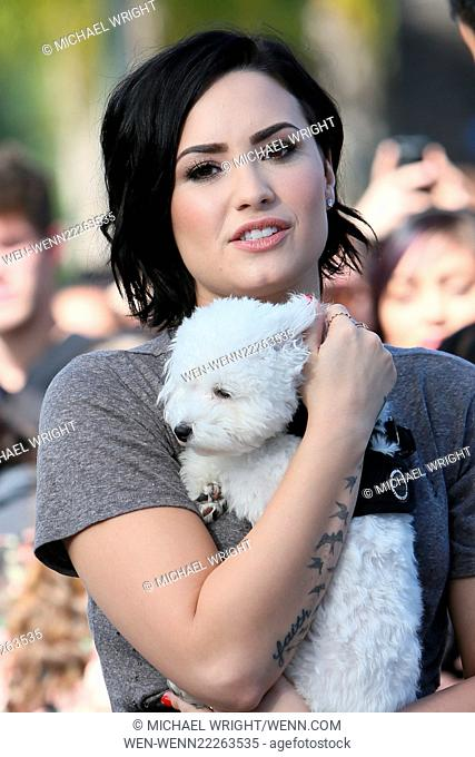 Demi Lovato appears on 'Extra' at Universal Studios Featuring: Demi Lovato Where: Los Angeles, California, United States When: 03 Mar 2015 Credit: Michael...