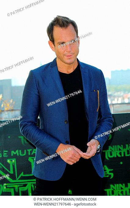 The cast of 'Teenage Mutant Ninja Turtles' promoting their movie at the roof of the Backfabrik (bakery factory). Featuring: Will Arnett Where: Berlin