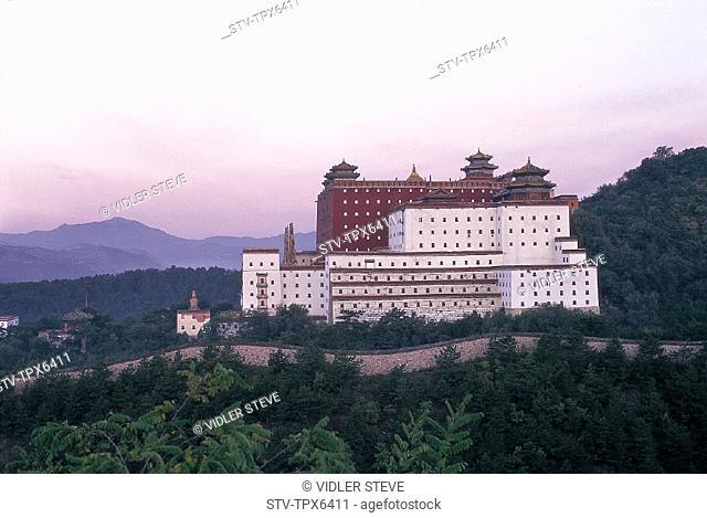 Asia, Chengde, China, Dawn, Doctrine, Hebei, Heritage, Holiday, Landmark, Potaraka, Province, Putuozongshengzhi miao, Religious
