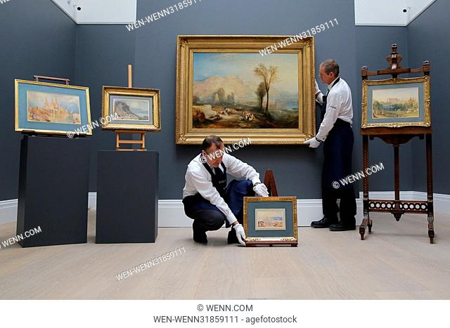Major paintings by J.M.W Turner unveiled at Sotheby's prior to the auction. Featuring: View Where: London, United Kingdom When: 30 Jun 2017 Credit: WENN