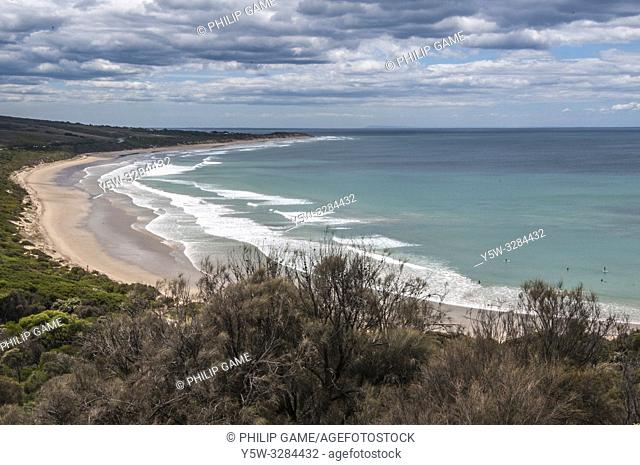 View eastwards from Urquharts Bluff on the Great Ocean Road, Victoria, Australia